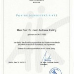 Certification for advanced Training