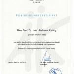 Разрешение на проведение повышения квалификации отдела здравоохранения Берлина
